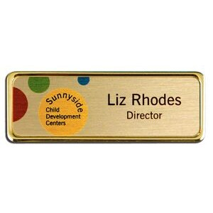 Sublimated Framed Name Badge-Aluminum Insert (1